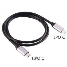 Cable USB TIPO-C a TIPO-C (1 metro) Metálico
