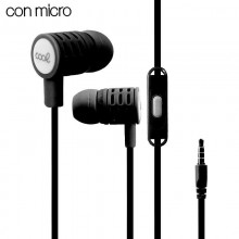 Auriculares 3,5 mm COOL Extra Bass Stereo Con Micro