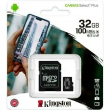 32GB Microsd card with 100Mb/s sd adapter