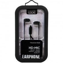 Auriculares 3,5 mm COOL Bali Stereo Con Micro Negro