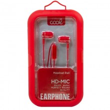 Auriculares 3,5 mm COOL Bali Stereo Con Micro Rojo